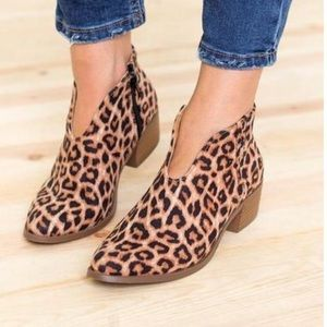 Shoes - Leopard Print Ankle Booties....Brand new.